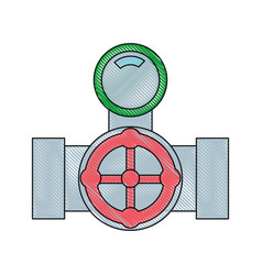 pipes plumbing design vector image