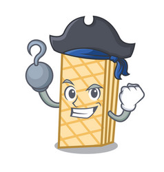 Pirate waffle character cartoon style vector