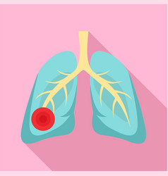 Pneumonia lungs icon flat style vector