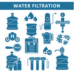 Purification and water filtration system isolated vector