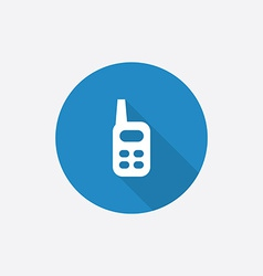 radio Flat Blue Simple Icon with long shadow vector image
