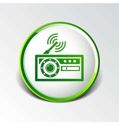 radio icon station symbol fm antenna vector image