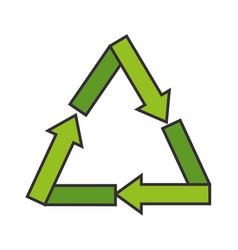 recycle arrows symbol vector image