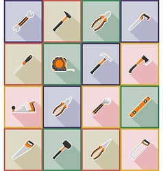 repair tools flat icons 18 vector image