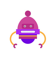 robot of purple color hands vector image