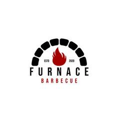 Rustic Bricks Stones Fireplace Logo Ideas Vector Image