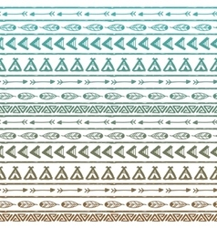 Seamless pattern in the style of boho or vector image