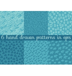 seamless wallpaper pattern background set vector image