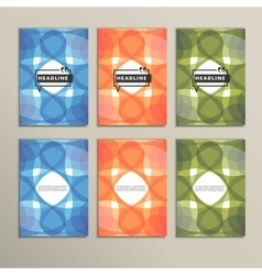 Set six covers with abstract patterns vector