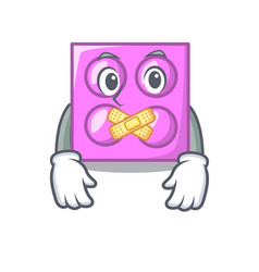 Silent toy brick mascot cartoon vector