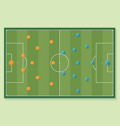 soccer football field in green color with vector image