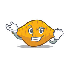 Successful conchiglie pasta character cartoon vector
