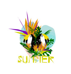 Summer surf board vector