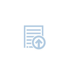 Upload document file icon on white vector