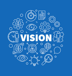Vision round outline business vector