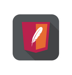 Web development red shield sign - html5 vector