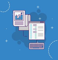 website data binary information technology vector image