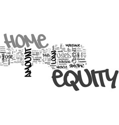 What equity is and how to use it text word cloud vector