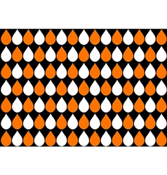 White Orange Water Drops Black Background vector