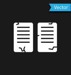 White the commandments icon isolated on black vector