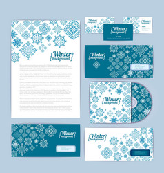 Winter holiday corporate identity vector image