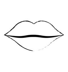 women lips cartoon kiss design vector image