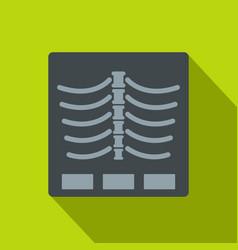 X ray photo icon flat style vector