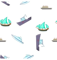 Yachts and maritime transport pattern vector image