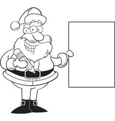 Cartoon Santa Claus Holding a Sign vector image vector image