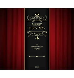 christmas invitation vector image vector image