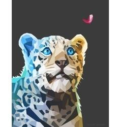 Low poly portrait of a leopard eps 10 vector image