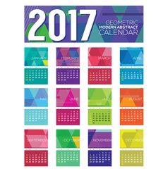 Modern Abstract 2017 Printable Calendar vector image vector image