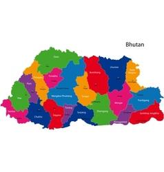 Bhutan map vector image vector image