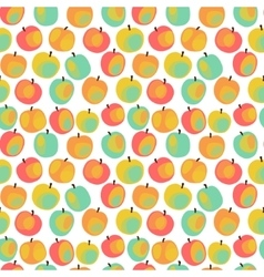 Colorful apple pattern vector image vector image