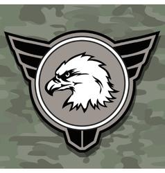 Eagle head logo emblem template mascot symbol for vector image vector image