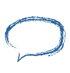 Speech bubble brushed vector