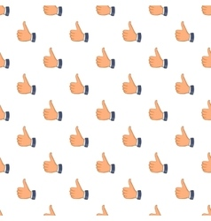 Thumbs up pattern cartoon style vector