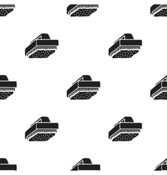 Cleaner brush black icon for web and vector image vector image