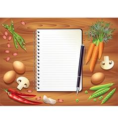 kitchen recipe background vector image