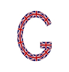 Letter G made from United Kingdom flags vector image vector image