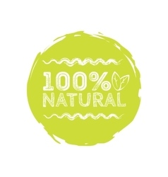 Logo Natural with leaves natural product organic vector image vector image