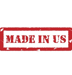 Made in us vector image