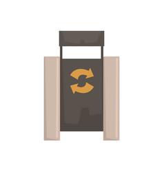 Outdoor bin with recycle symbol vector