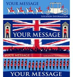 royal jubilee banners vector image