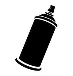 side view silhouette aerosol spray bottle can icon vector image vector image