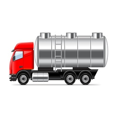 Tank truck isolated on white vector image