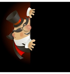 Cute Count Dracula Halloween design background vector image