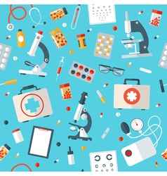Medical Tools Seamless Pattern Health Care vector image