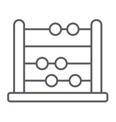 Abacus thin line icon school and education vector