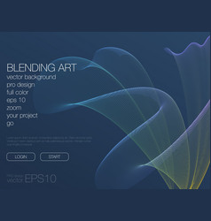 Abstract blend background template for web site vector